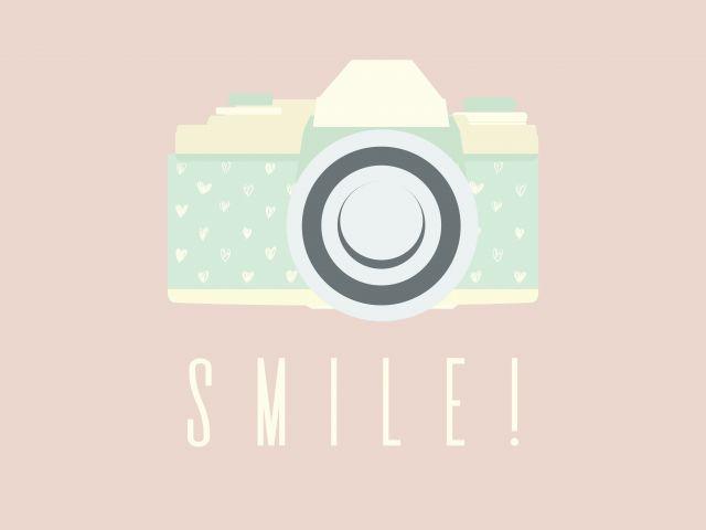 Poster Smile   câmera