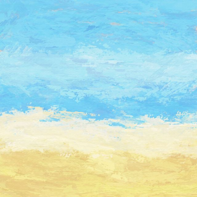 Poster Praia Expressionista