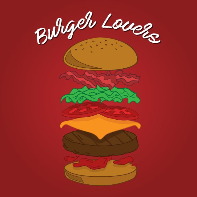 Poster Love Burgers