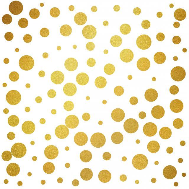 Poster Círculos Dourados I
