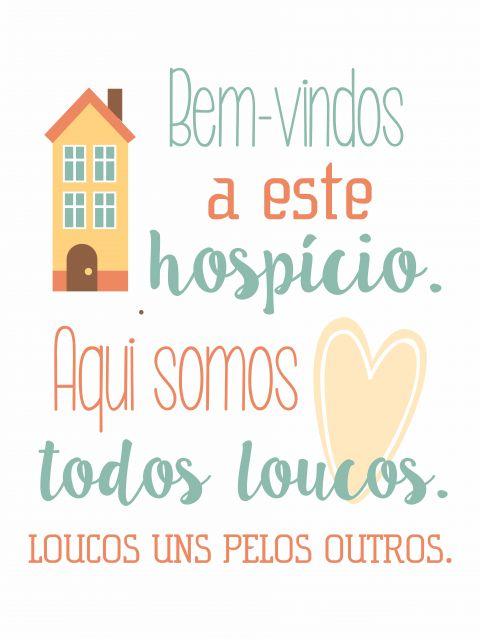 Poster Bem-vindos ao Hospício