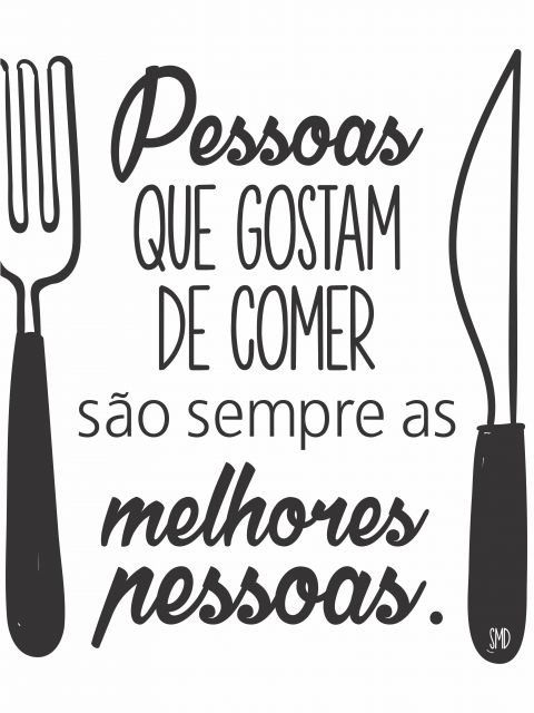 Poster Pessoas e Comida