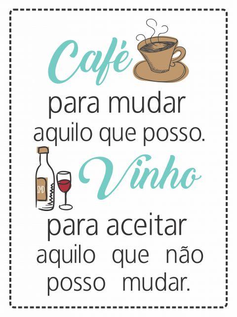 Poster Café e Vinho