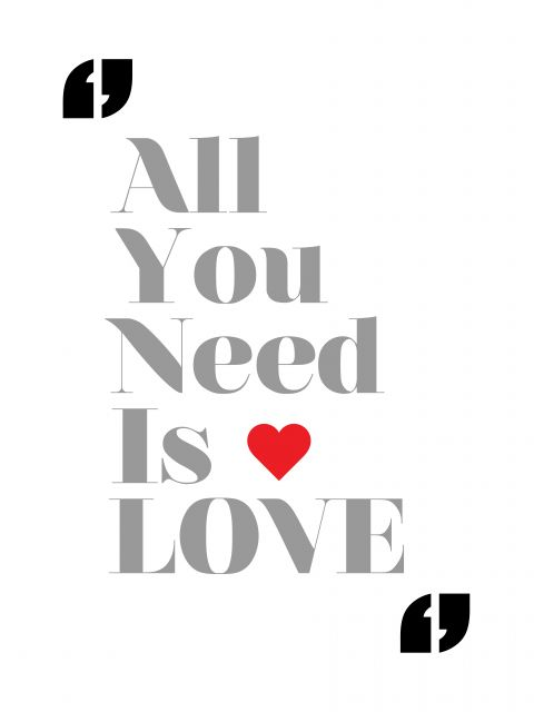 Poster All You Need Is Love-The Beatles
