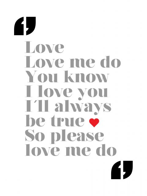 Poster Love Me Do - The Beatles