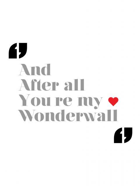 Poster Wonderwall - Oasis