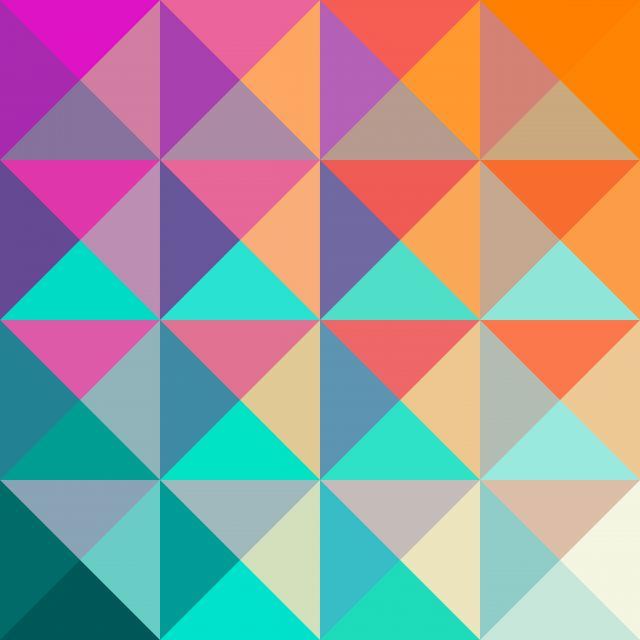 Poster Geométrico e colorido III