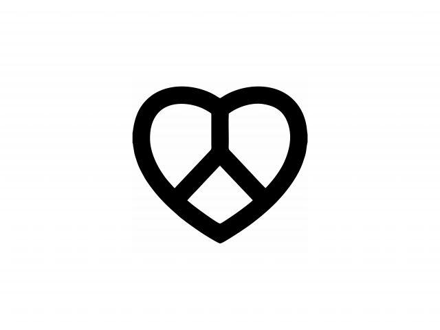 Poster Paz e Amor   coração
