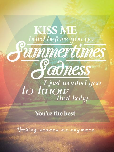 Poster Summertimes Sadness-Lana Del Rey