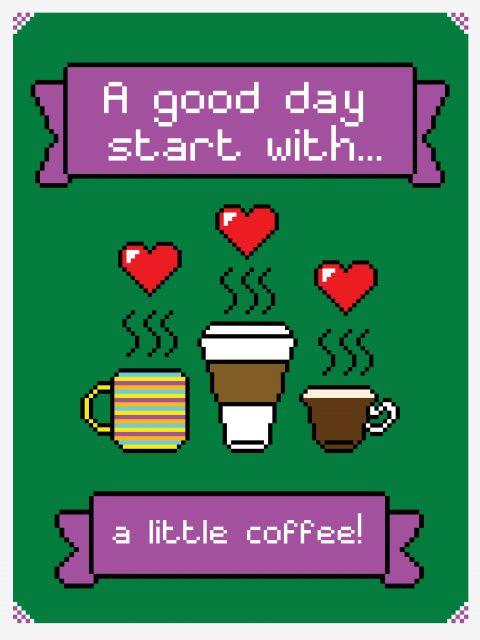 Poster I Love Coffee   café