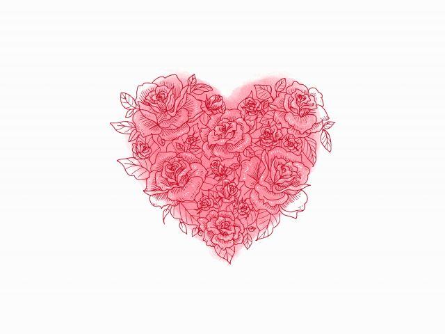 Poster Coração Floral