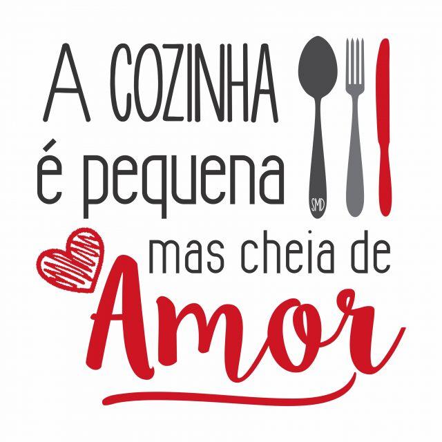 Poster Cozinha Pequena   amor