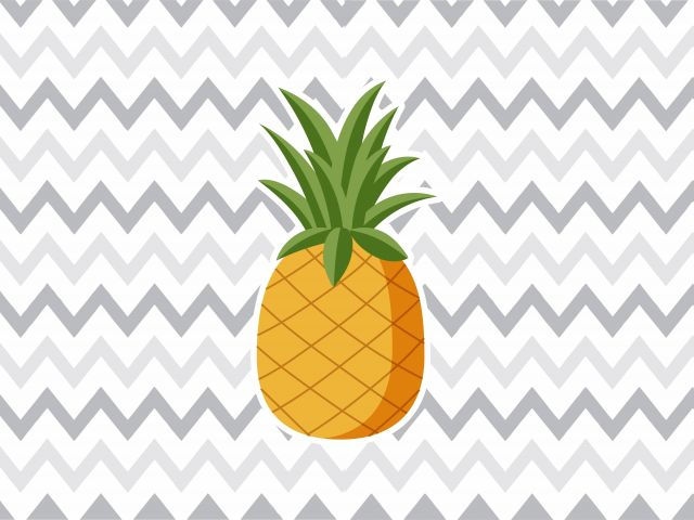 Poster Abacaxi Chevron Cinza   chevron fruta