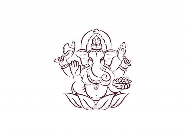 Poster Ganesha minimalista
