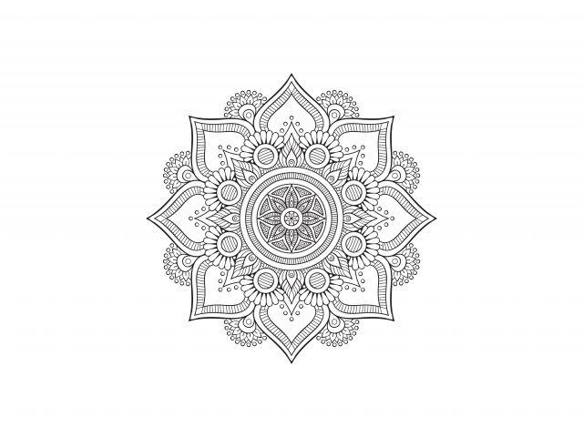 Poster Mandala Floral