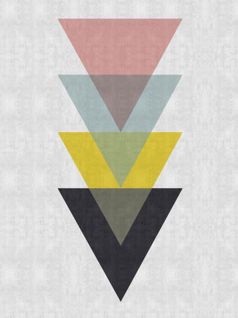 Poster Triângulos Coloridos