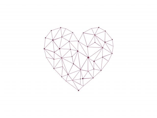 Poster Heart Polygonal