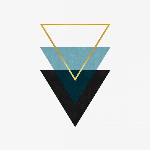 Poster Triângulos Minimalistas
