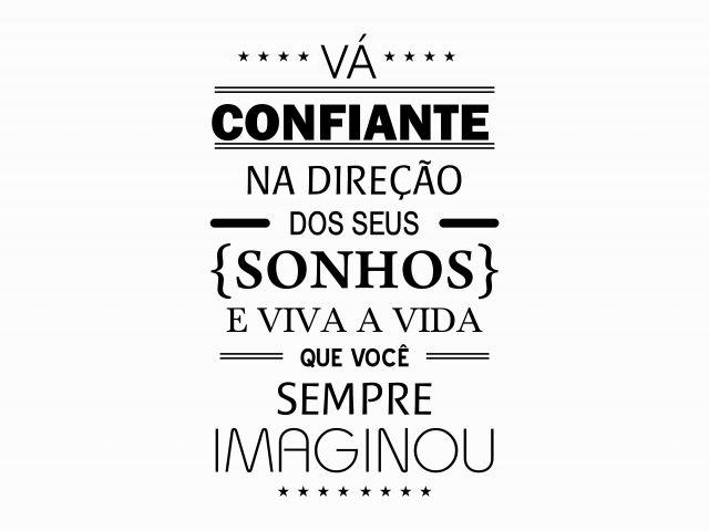 Poster Seja confiante