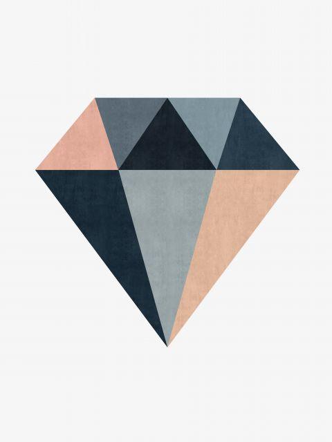 Poster Diamante minimalista I