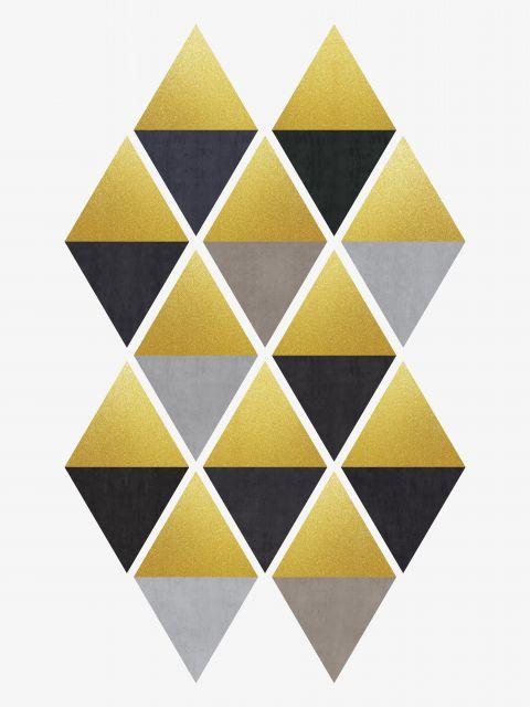 Poster Triângulos de ouro II