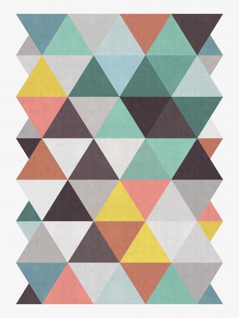 Poster Losangos coloridos