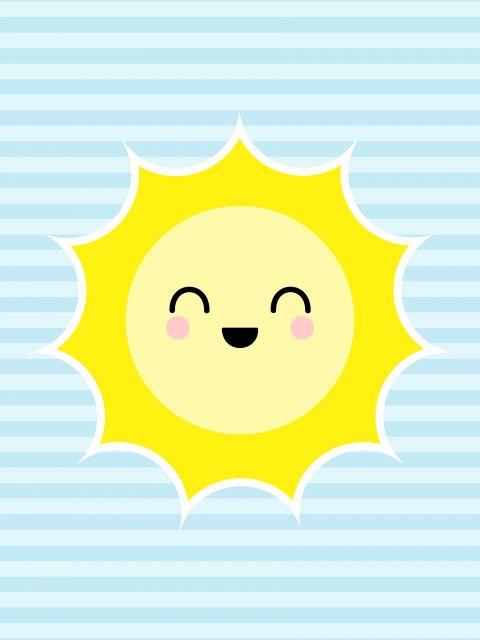 Poster Sol - Fundo Azul