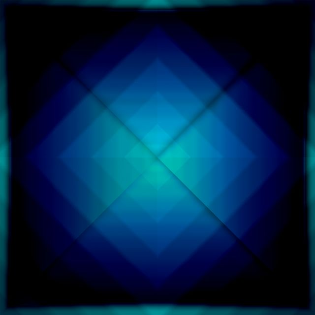 Poster Blue Squares   azul