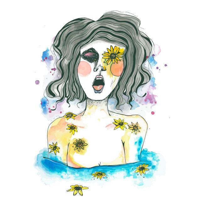 Poster Flora   mulher