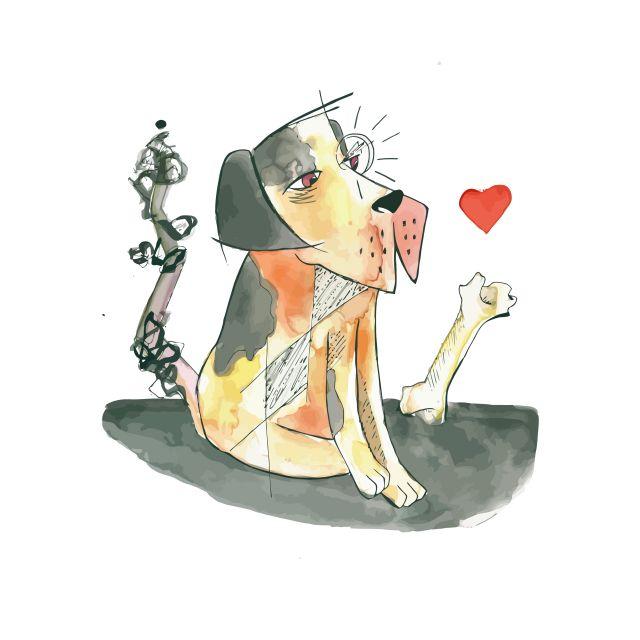 Poster Cachorro quente   cão
