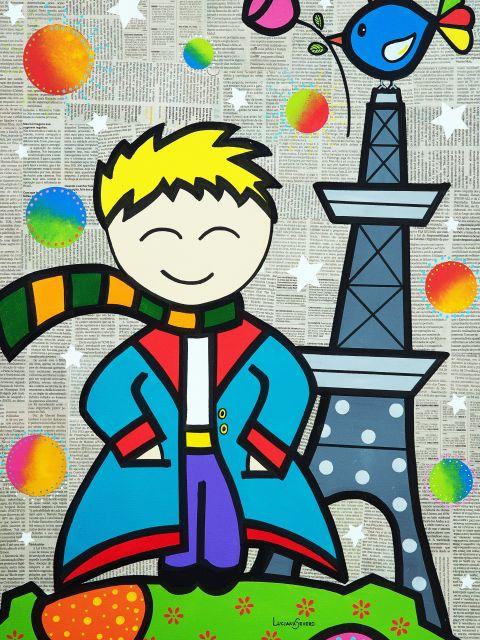 Poster Pequeno Príncipe em Paris
