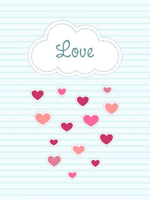 Poster Nuvem Love   amor