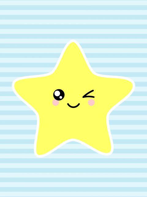 Poster Estrela - Fundo Azul