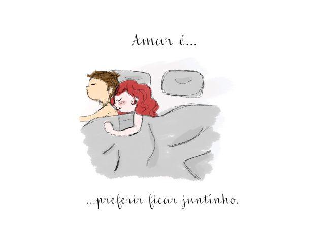 Poster Amar é-Ficar Juntinho  amar é casal namorados