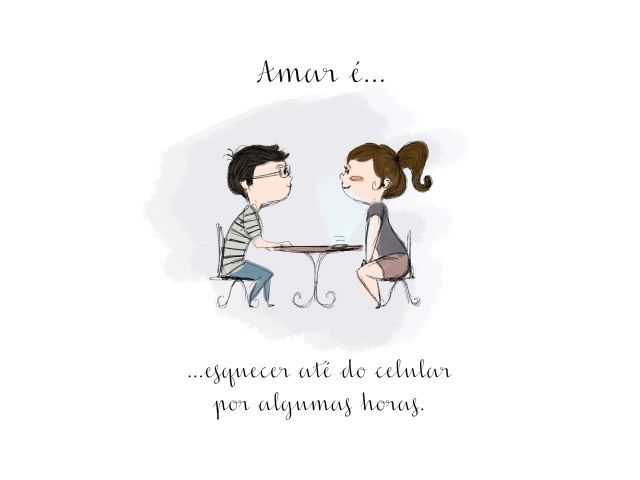 Poster Amar é-Esquecer do Celular  amar é namorados casal