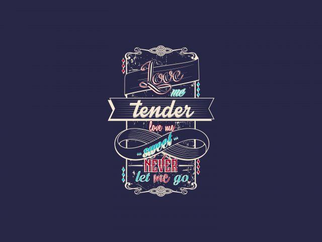 Poster Love me Tender
