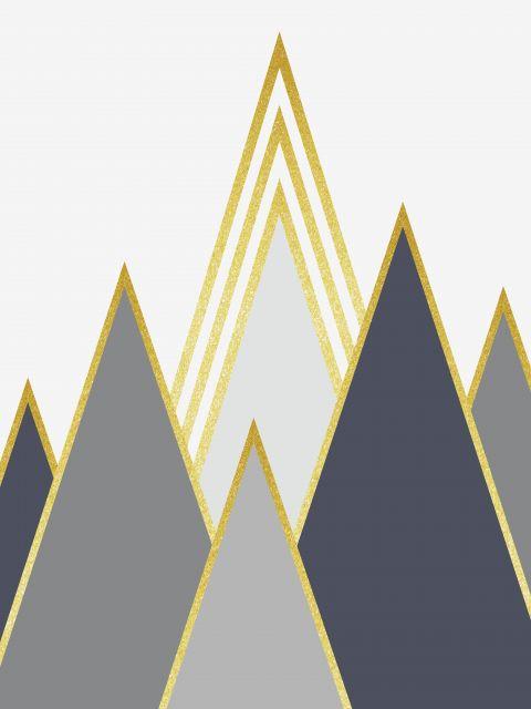 Poster Montanhas Douradas I