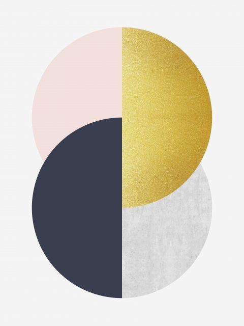 Poster Esfera Dourada