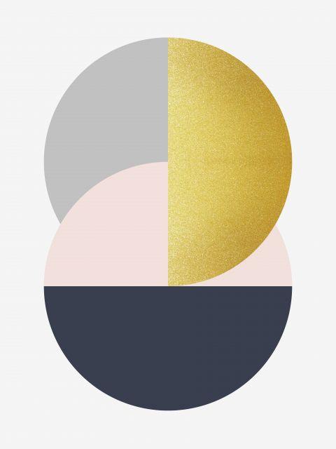 Poster Esfera Dourada I