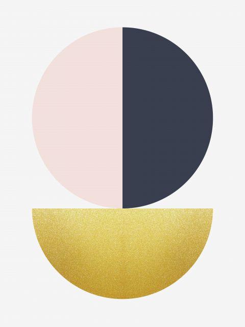 Poster Esfera Dourada II