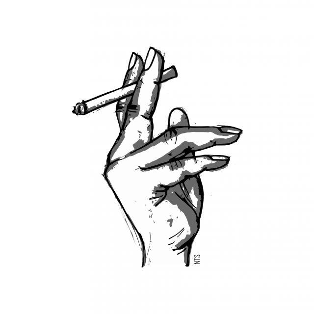 Poster Mão Cigarro 01