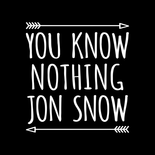 Poster YOU KNOW NOTHING JON SNOW