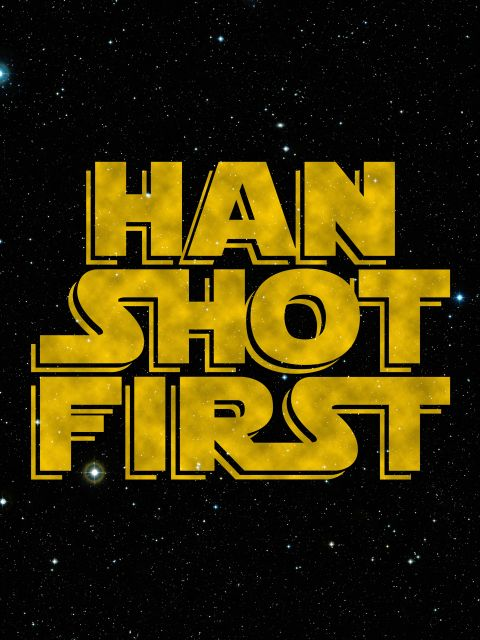 Poster HAN SHOT FIRST