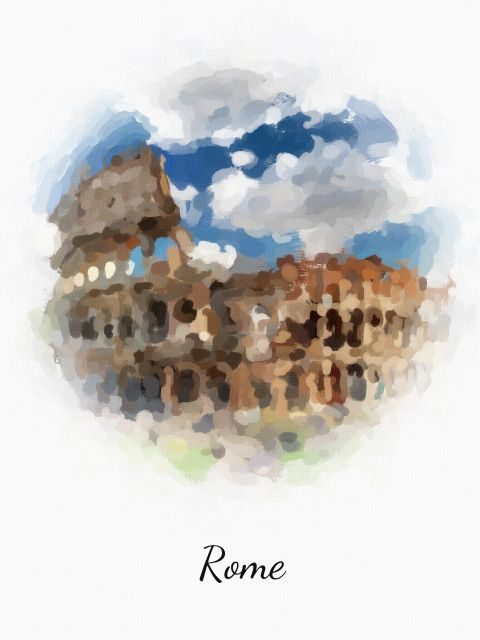 Poster Roma Rome   itália