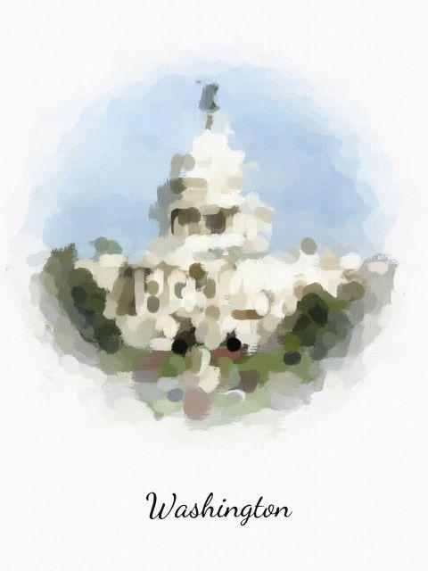 Poster Washington   estados unidos EUA