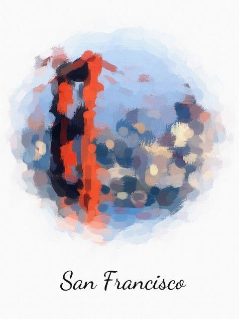 Poster São Francisco   Estados Unidos EUA