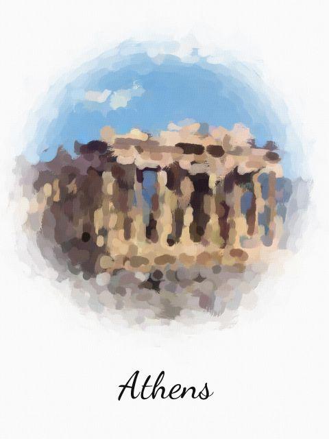 Poster Atenas Athens   grécia