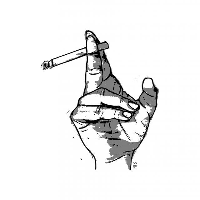 Poster Mão Cigarro 02