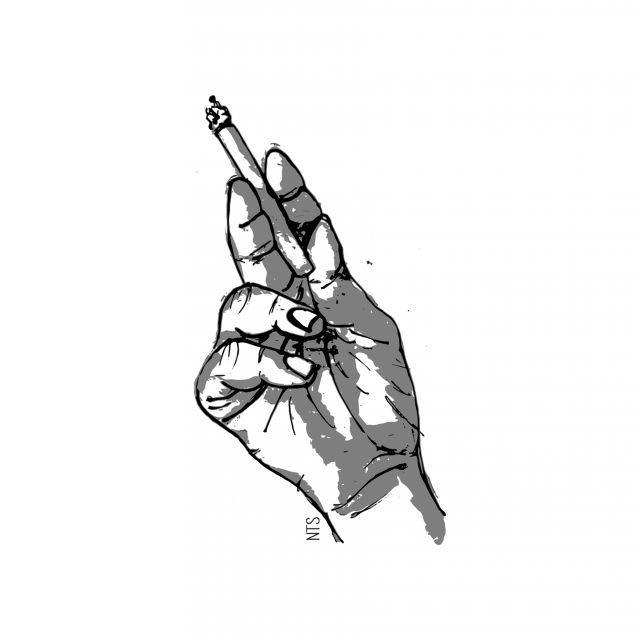 Poster Mão Cigarro 03