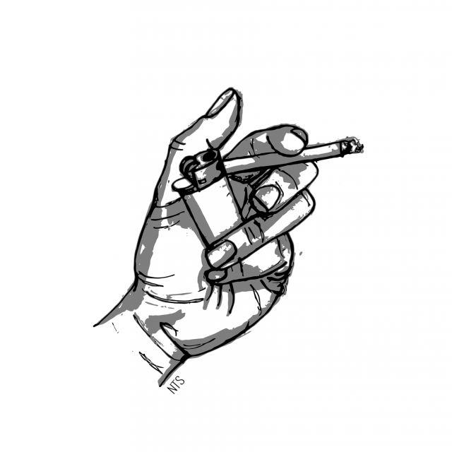 Poster Mão Cigarro 04